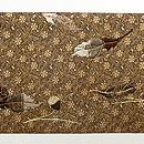 リスとドングリの刺繍名古屋帯 前柄