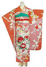 四季の花々御簾文様刺繍振袖