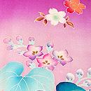 菫色菊桐文様祝い着
