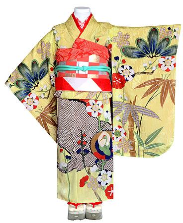 疋田に鶴丸文祝い着