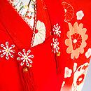 梅に菊花文友禅染祝い着