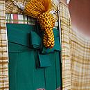 熨斗目羽織に松ぼっくり文袴