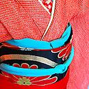 総絞り祝い着に菊立涌文丸帯