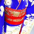 菊花に鳳凰の図錦紗祝い着